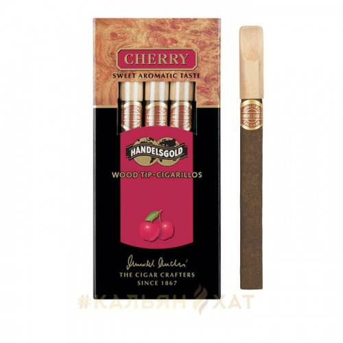 Сигариллы Handelsgold Wood Tip-Cigarillos Cherry 5шт